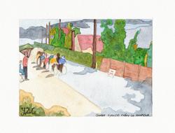 la course cycliste à Crécy la Chapelle