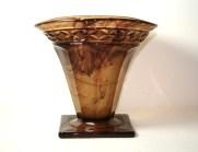 Vase en verre pressé - Art Deco