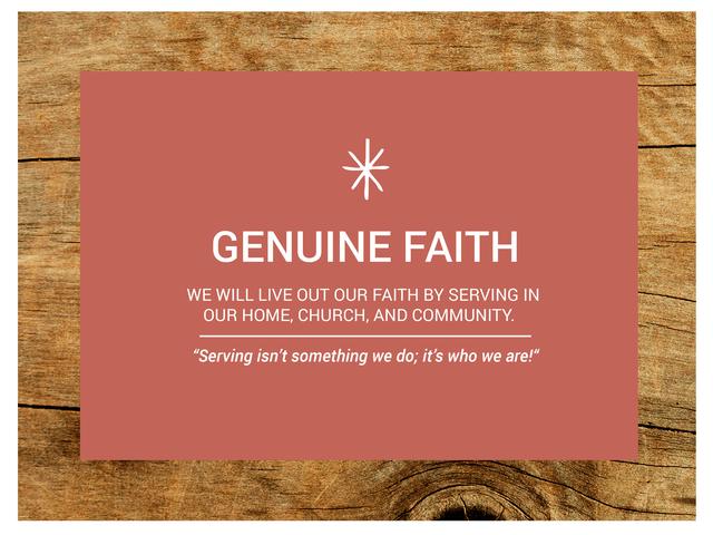 Genuine Faith