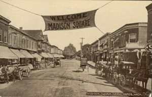 vintage Madison Square streetscape