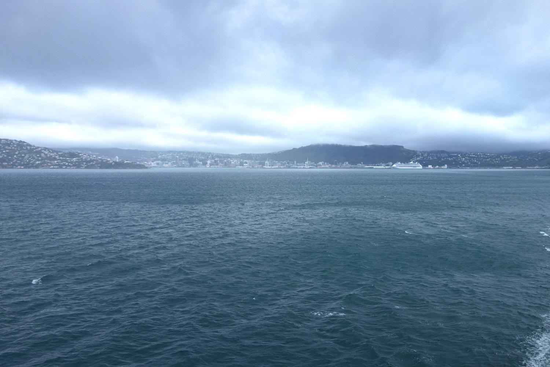 Départ de Wellington vers l'île du Sud