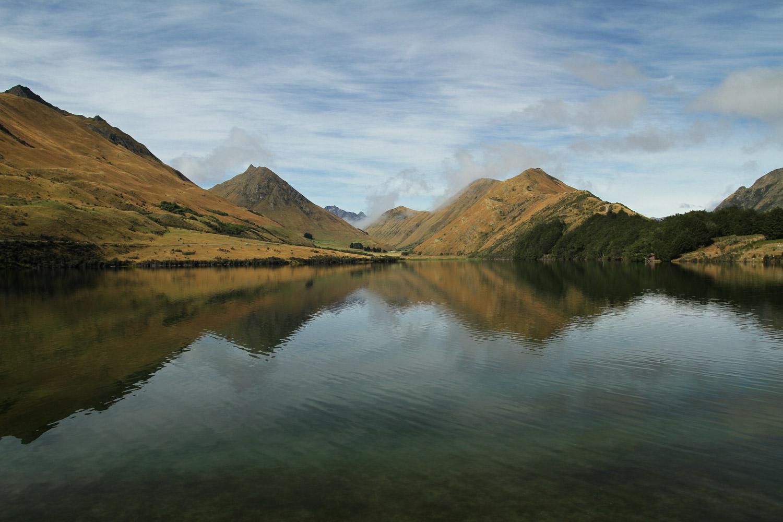 """Le Moke lake où ont été tournées des scènes de la série """"Top of the lake"""""""