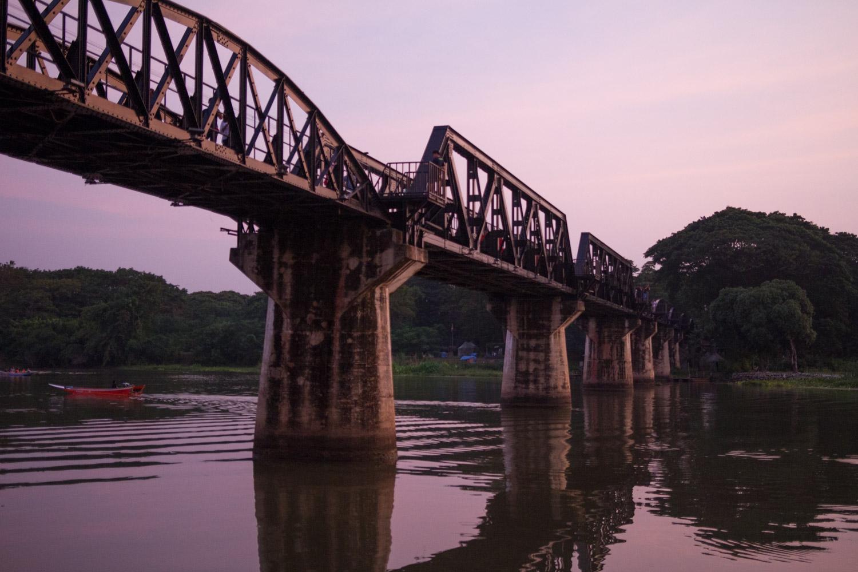 Le fameux pont de la rivière Kwaï