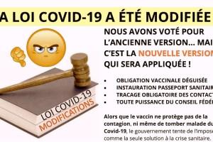 LOI COVID-19 •Référendum contre la tromperie légale!