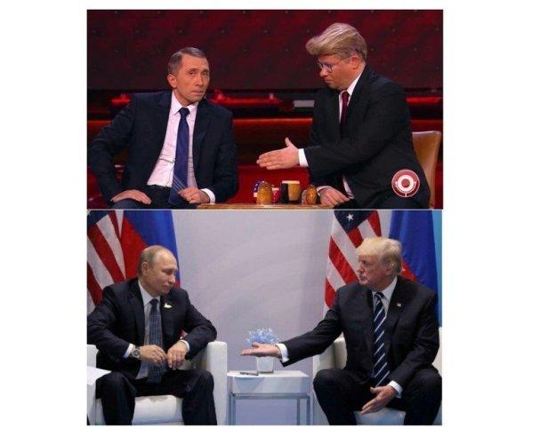 фотожабы про выборы трампа протекает поражением толстого