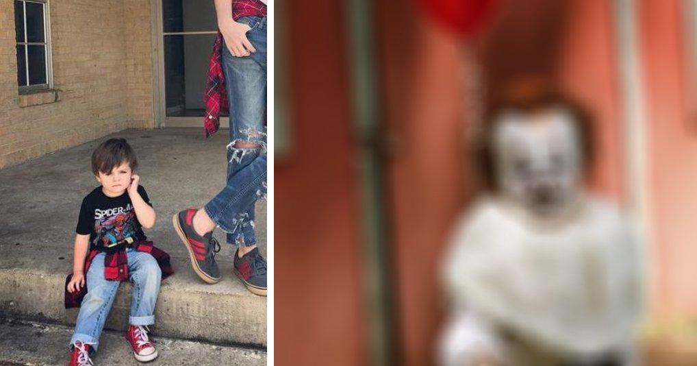 """Молодой фотограф снял 3-летнего брата в образе клоуна из """"Оно"""": это нереальная жуть"""