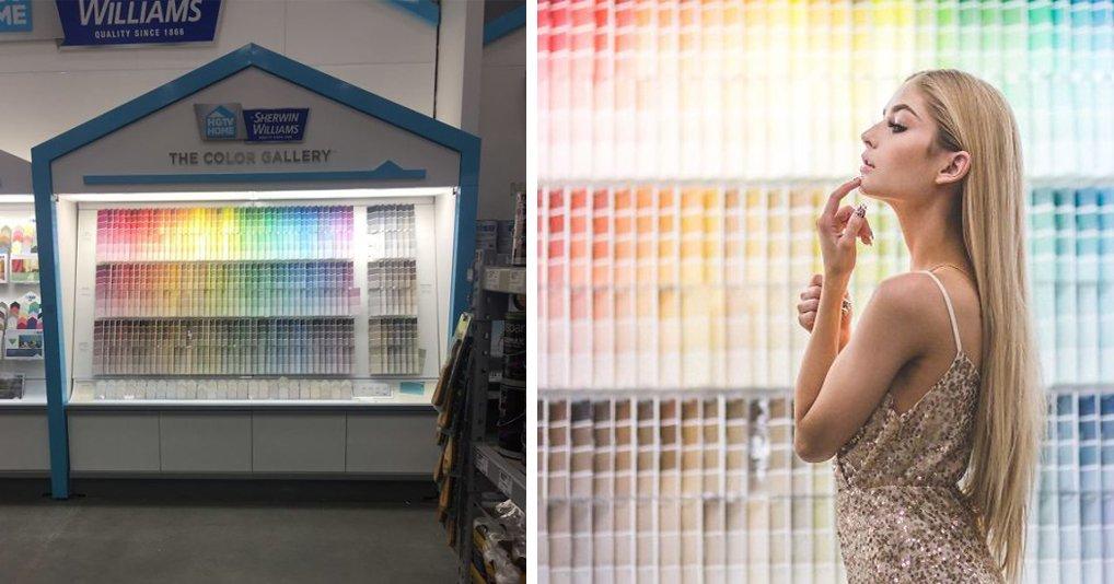 Фотограф показала, что красивые снимки можно сделать в любом месте:6 локаций в строительном супермакете