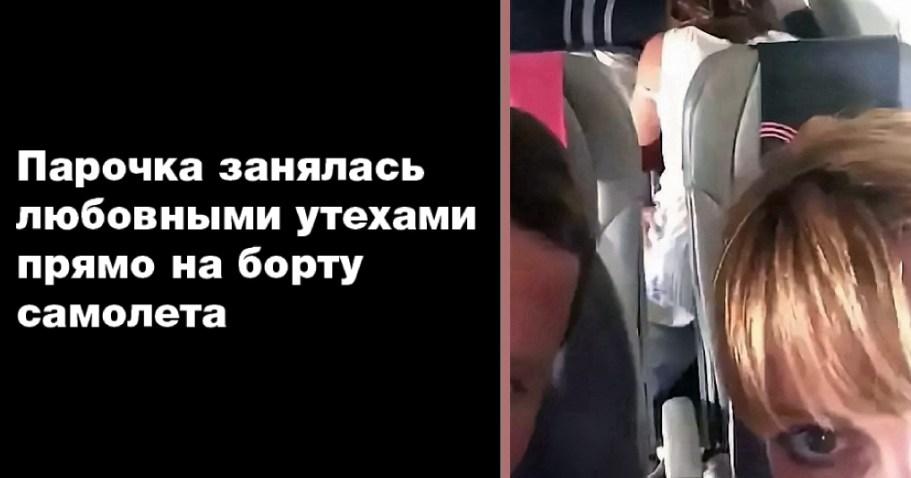 """Пара, прямо в самолете, занялась """"этим"""""""