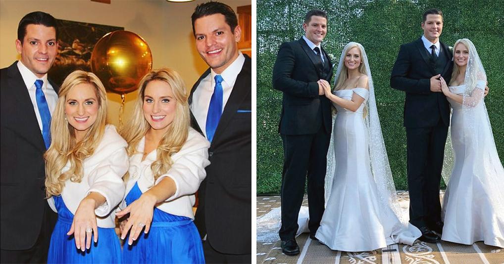 Двойное чудо: идентичные близняшки вышли замуж за идентичных близнецов
