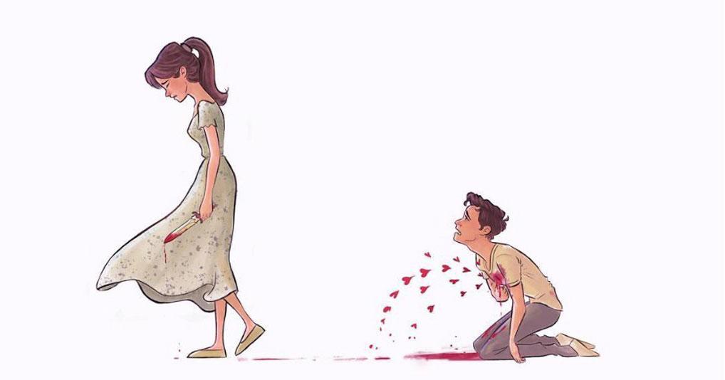 Данные иллюстрации будут близки всем, кто хоть раз был влюблен