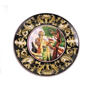 piatto ceramica Titano San Marino