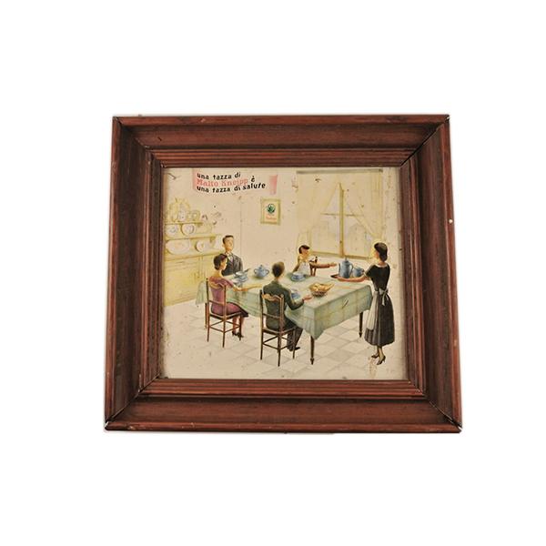 quadretto pubblicitario malto kneipp anni 50