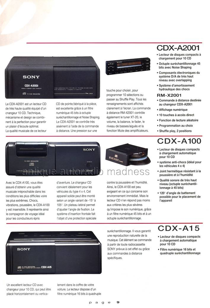 Catalogue Autoradio Sony Vintage 1991 2