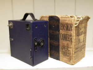 antique box cameras