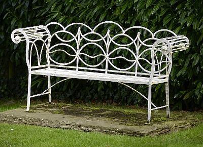Antique Regency garden bench
