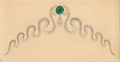 A drawing for Chaumet jewellery