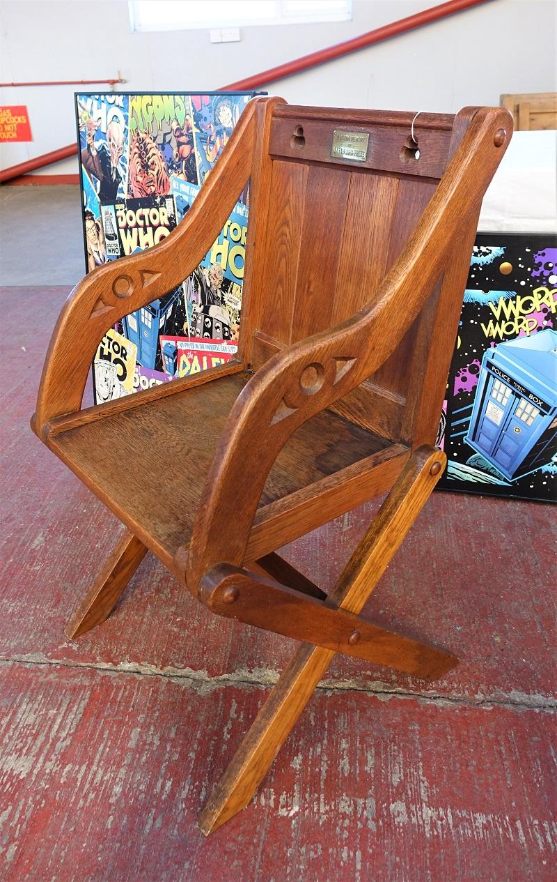 Early 20th Century Oak Glastonbury Elbow Chair
