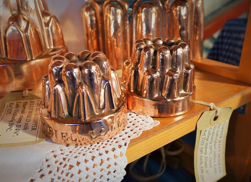 Victorian, copper jelly moulds