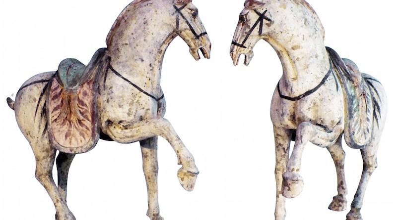 A pair of Tang dynasty horses
