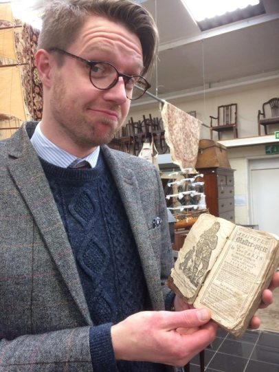 Hansons Jim Spencer with the sex manual from 1720
