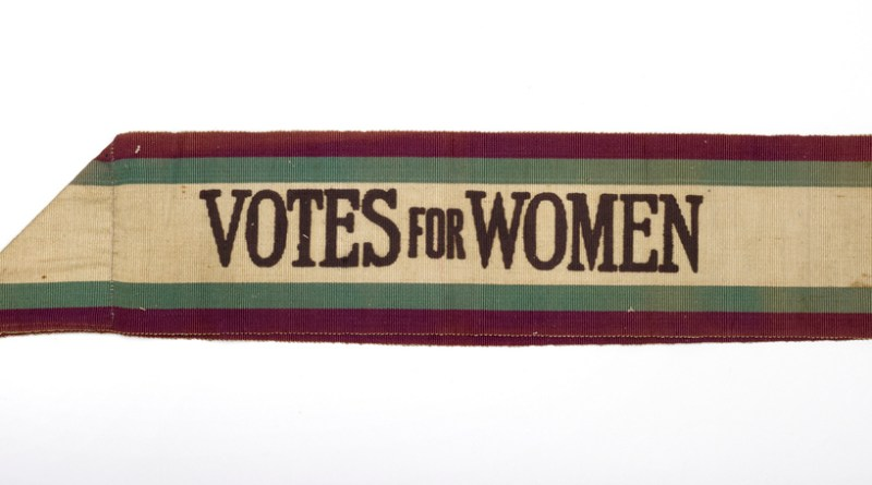 Suffragette Votes for women sash