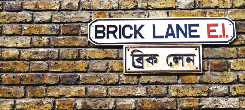 Street sign for Brick Lane Market