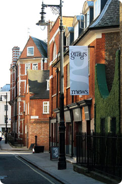 Exterior of Grays Antiques Centre