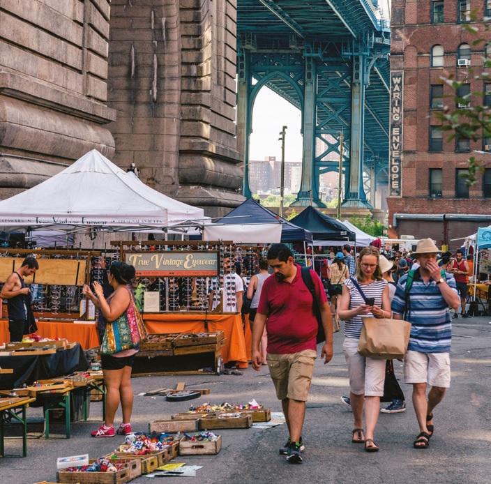 Any antique trip to New York should include Brooklyn Bridge Flea Market