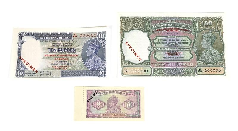 Burmese banknotes
