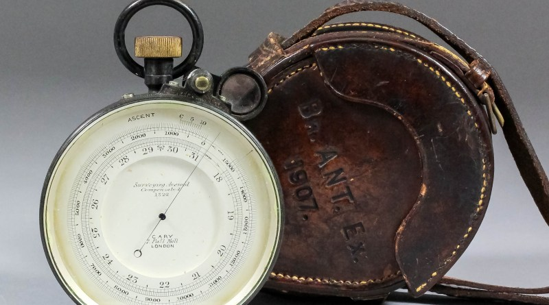 Ernest Shackleton barometer in auction