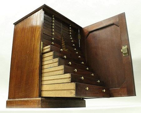 A Victorian dwarf specimen cabinet