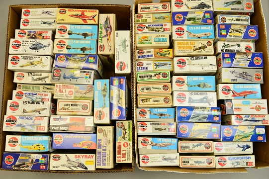 Part of the huge collection of model aircraft in the auction