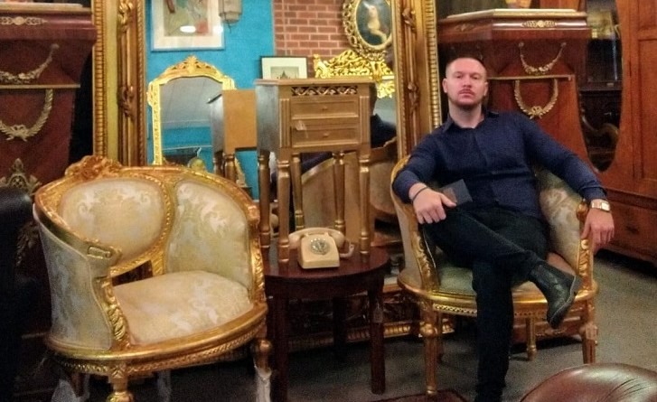 Antiques dealer James Tierney of the Vintage Barn