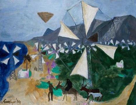 Manning Fine Art - Cretan Windmills -Julian Trevelyan