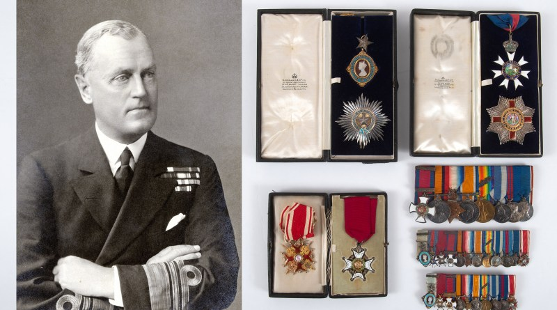 The twelve medals of Vice Admiral Sir Humphrey Walwyn