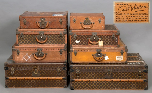 524028653b2 Vintage Louis Vuitton luggage in Somerset sale | Antique Collecting