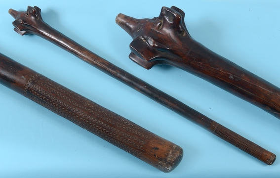 A Fijian war club in Dorset sale