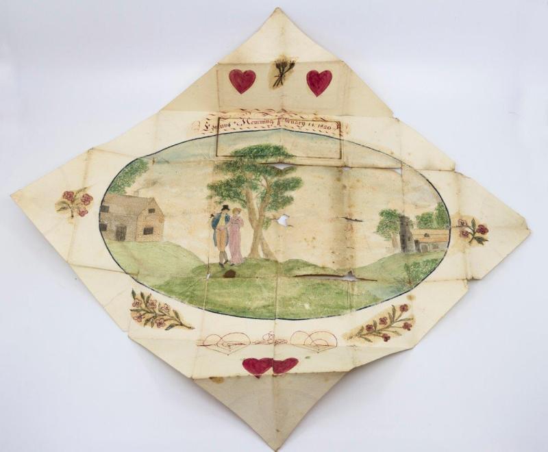A Victorian antique Valentine card