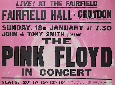 A Pink Floyd rock poster