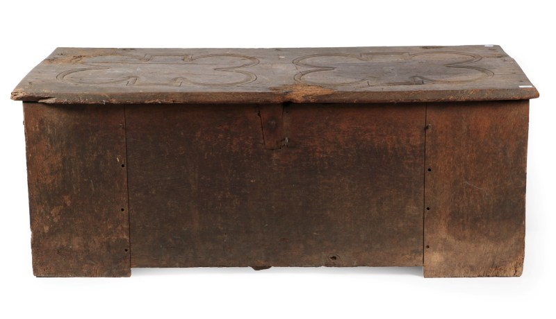 An antique 15th century chest