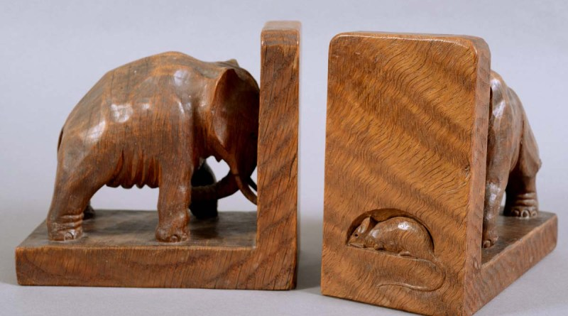 Robert Mouseman Thompson elephant bookends