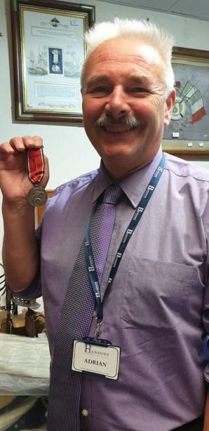 Hansons' Adrian Stevenson with Ulrich Graf medal - credit Hansons