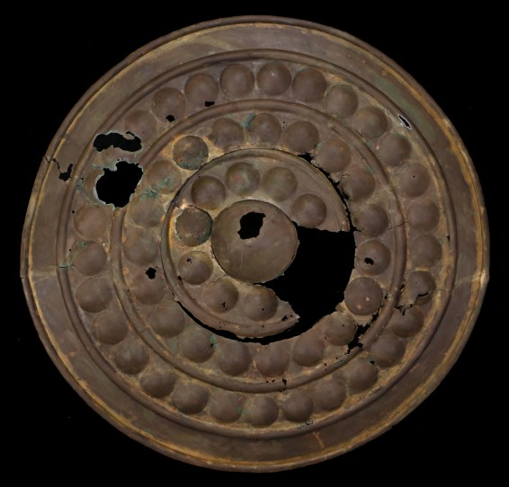 The bronze age shield in Bishop & Miller's auction