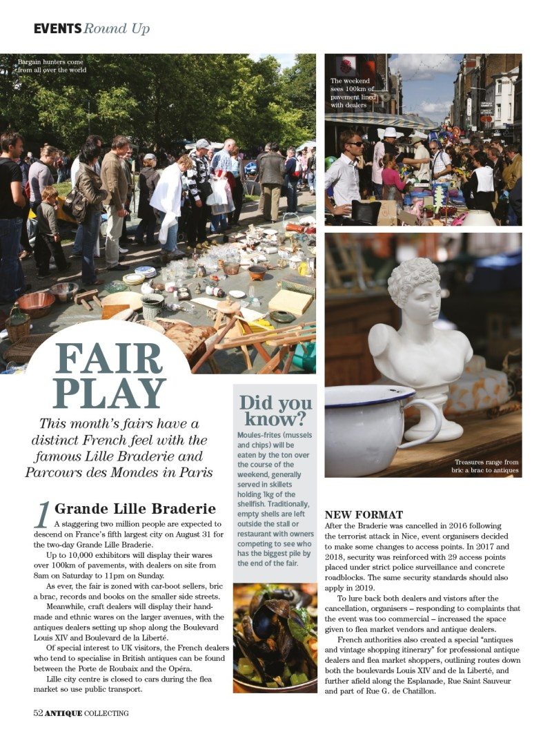 Fair play in Antique Collecting magazine