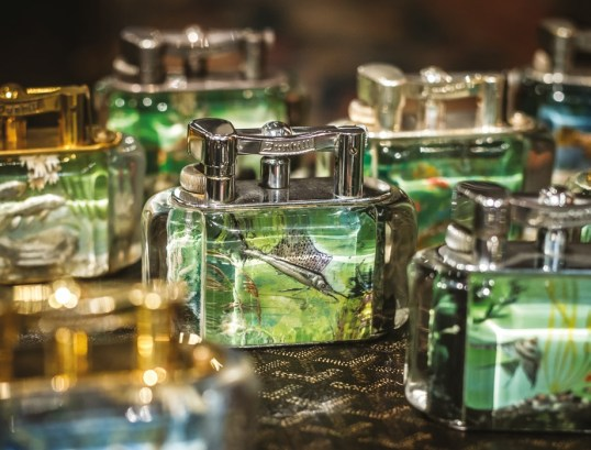 A collection of Dunhill Aquarium Lighters