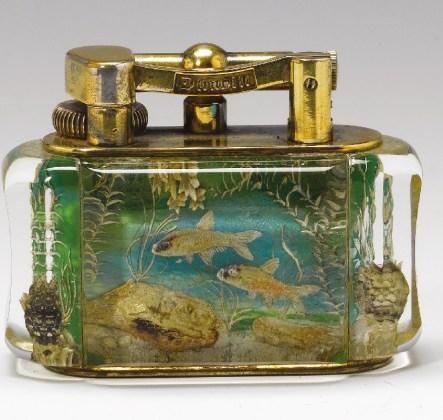 A Dunhill Aquarium lighter that sold for £3,240 in 2008