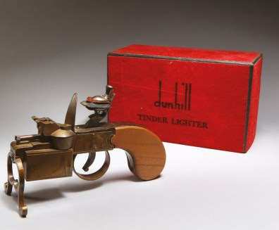 A rare 1930s Dunhill flintlock lighter