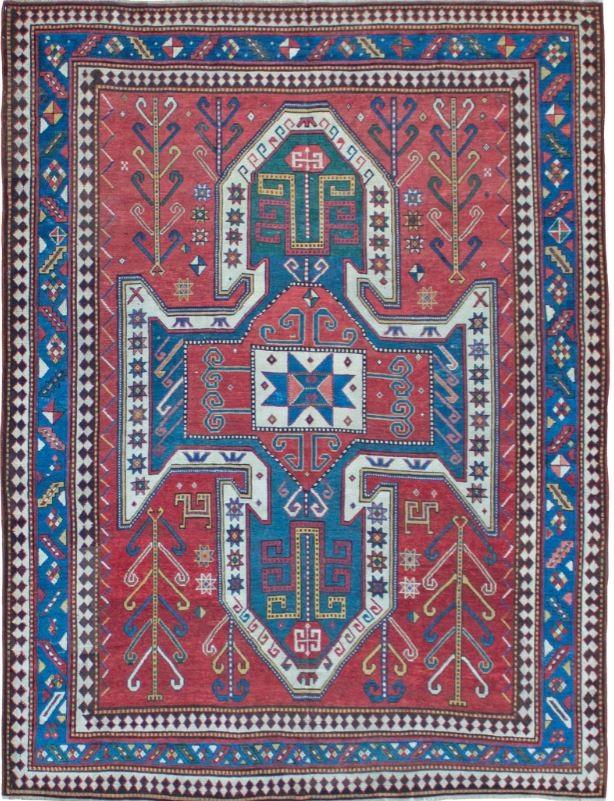 Antique Sewan Kazak rug, Caucasus, c1880, Farnham Antique Carpets