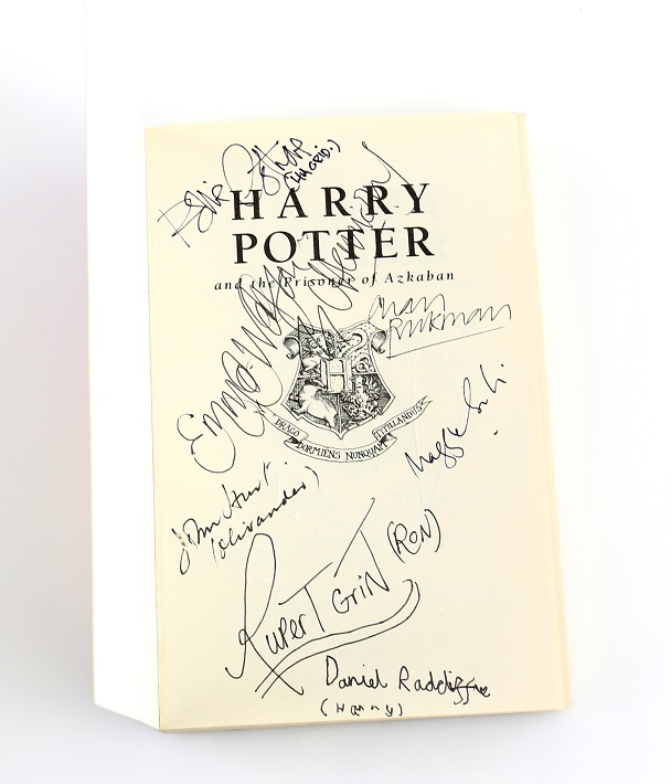 Harry Potter and the Prisoner of Azkaban signed by the film cast