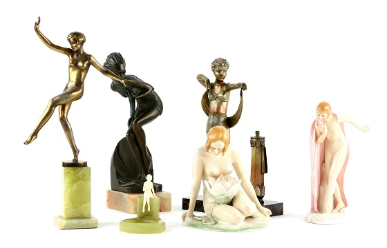 A selection of the art deco figurines